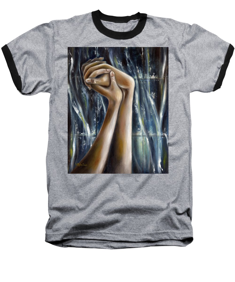 Blue Baseball T-Shirt featuring the painting Snow Light by Hiroko Sakai