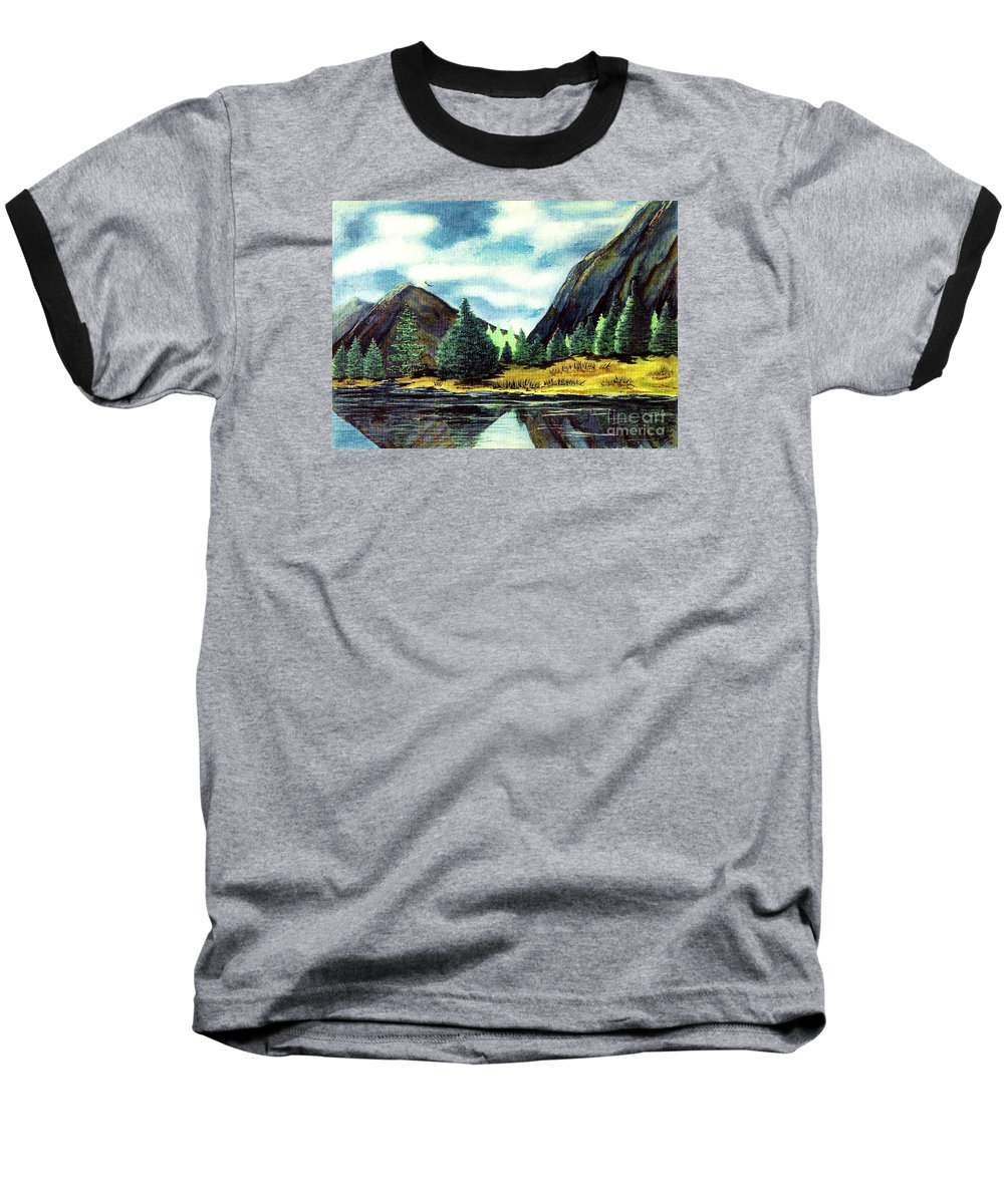 Fine Art Baseball T-Shirt featuring the painting Solitude by Patricia Griffin Brett