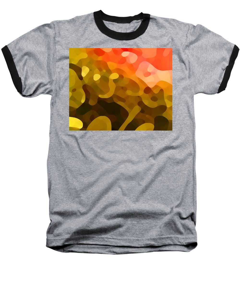 Abstract Baseball T-Shirt featuring the painting Spring Day by Amy Vangsgard