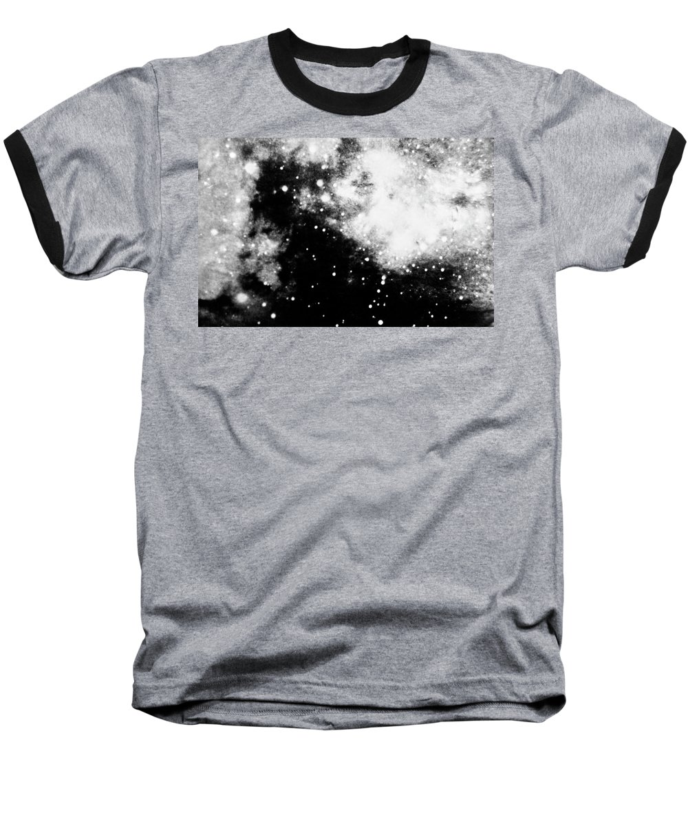 Art Baseball T-Shirt featuring the photograph Stars And Cloud-like Forms In A Night Sky by Duane Michals
