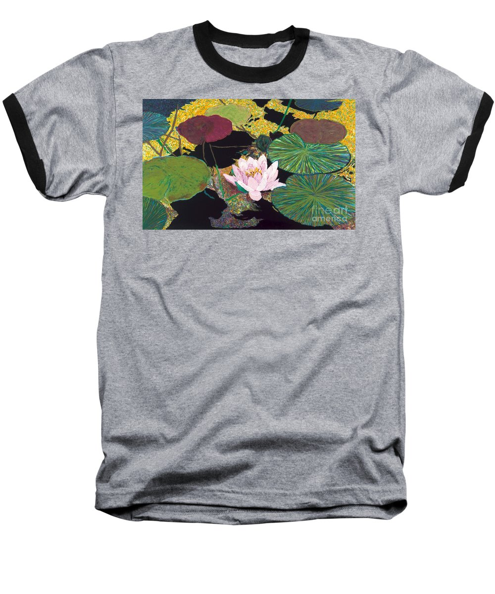 Landscape Baseball T-Shirt featuring the painting Steamy Pond by Allan P Friedlander