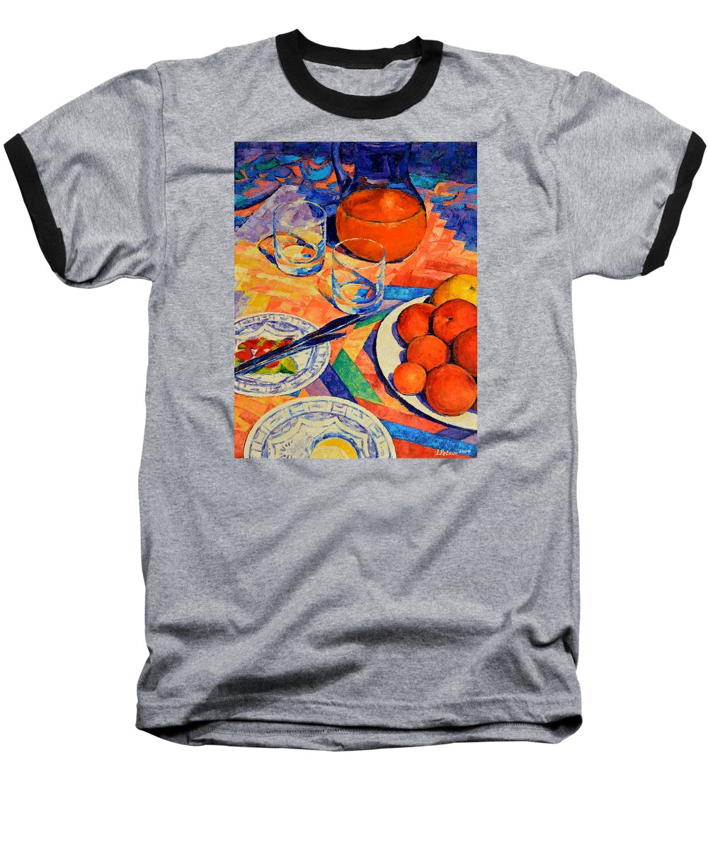 Still Life Baseball T-Shirt featuring the painting Still Life 1 by Iliyan Bozhanov