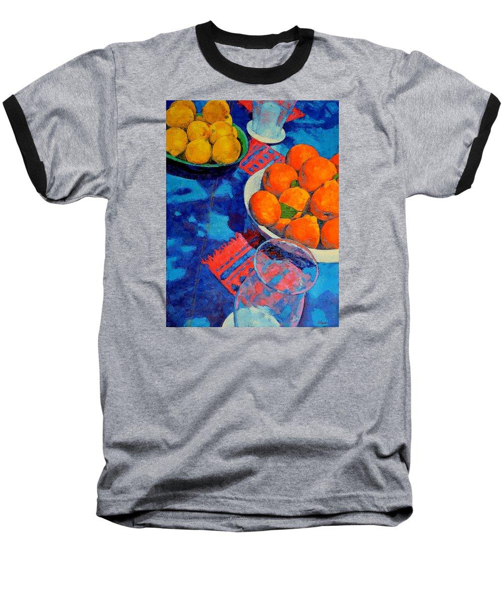Still Life Baseball T-Shirt featuring the painting Still Life 2 by Iliyan Bozhanov