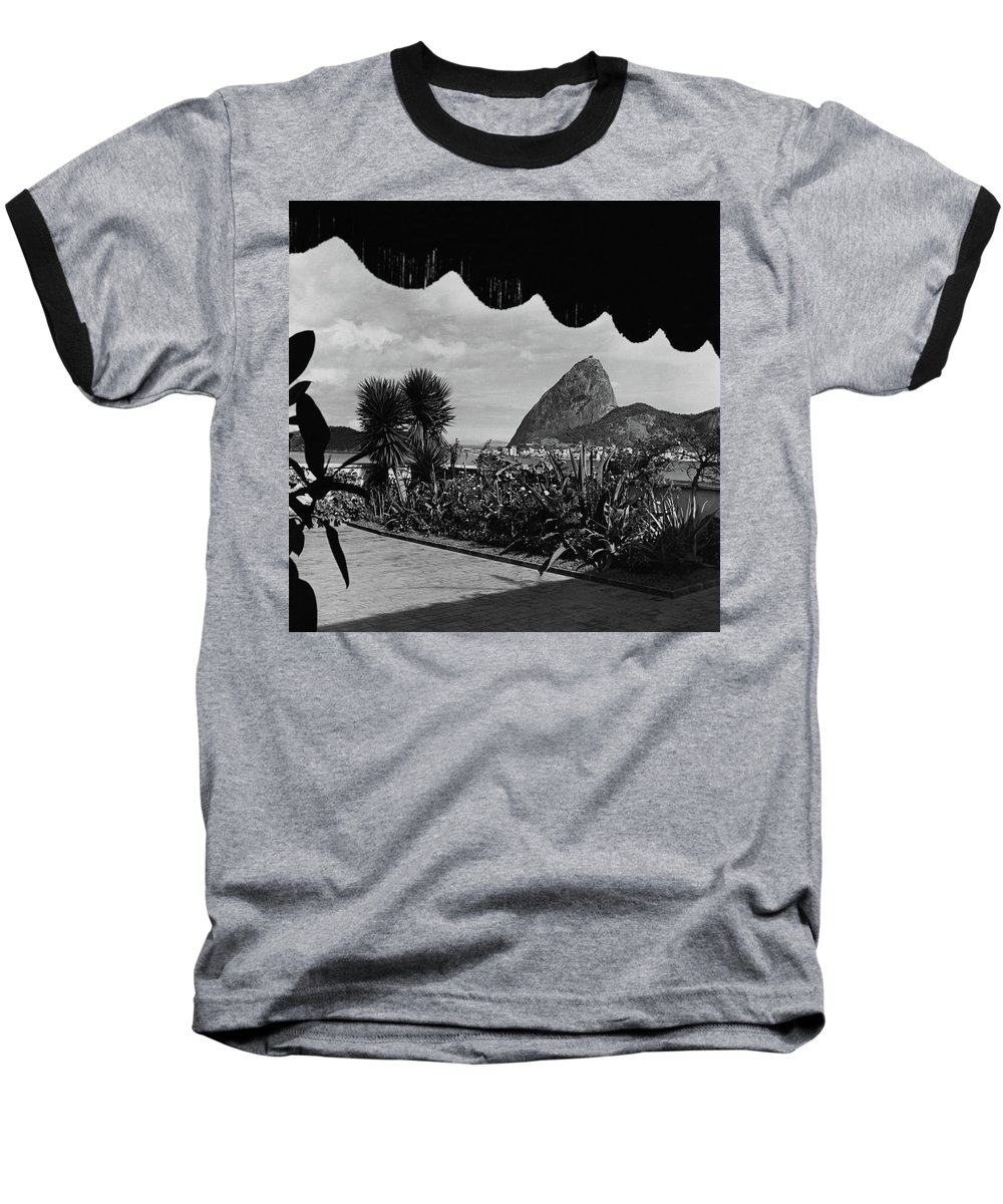 Exterior Baseball T-Shirt featuring the photograph Sugarloaf Mountain Seen From The Patio At Carlos by Luis Lemus