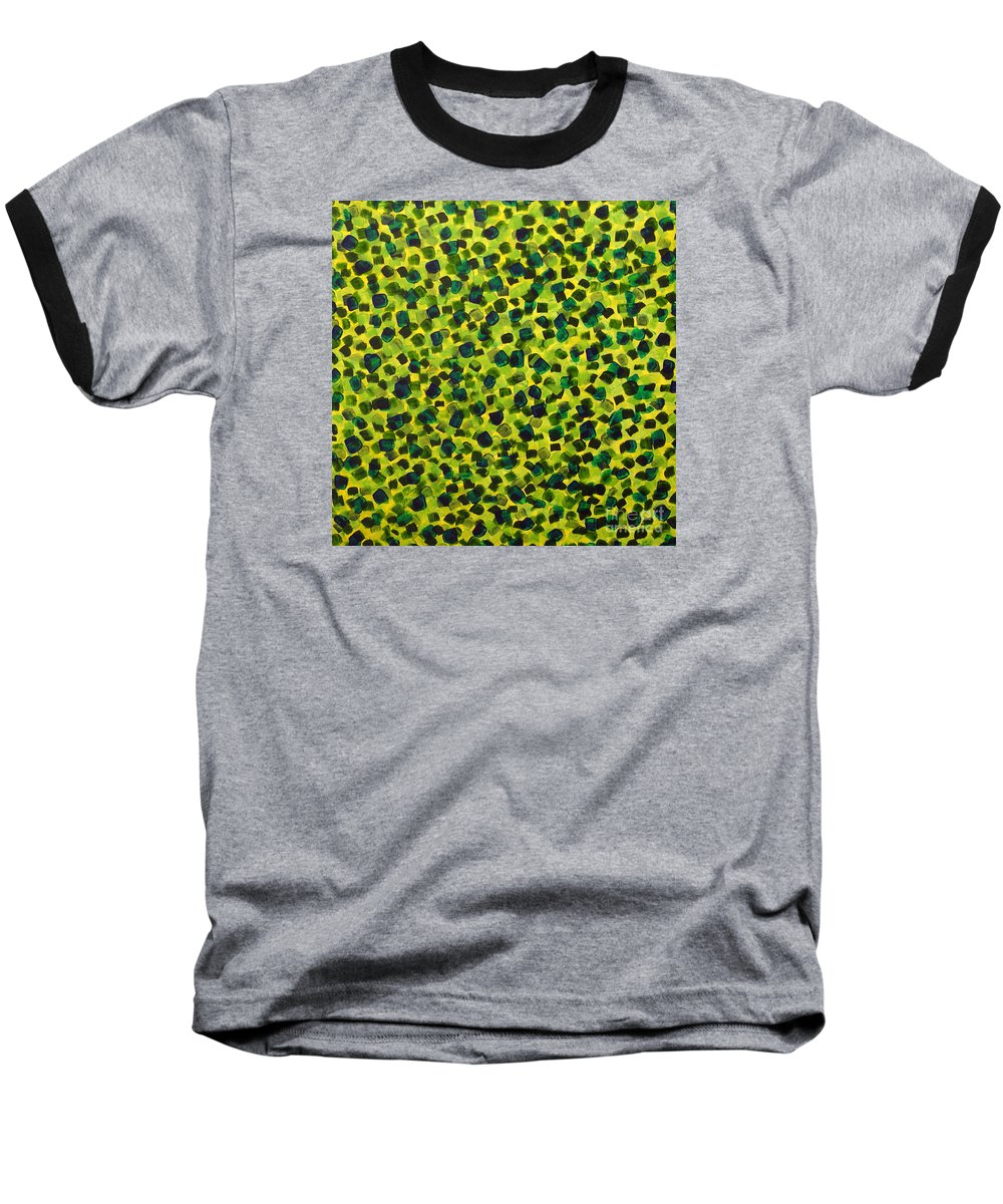 Abstract Baseball T-Shirt featuring the painting Sunlight Through The Trees 2 by Dean Triolo