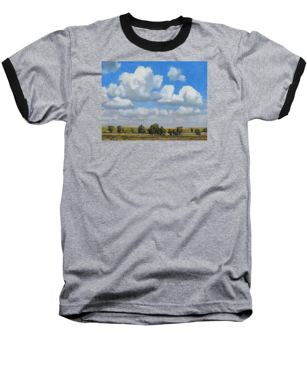 Landscape Baseball T-Shirt featuring the painting Summer Pasture by Bruce Morrison