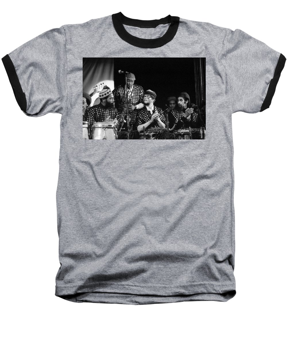 Jazz Baseball T-Shirt featuring the photograph Sun Ra Arkestra With John Gilmore by Lee Santa