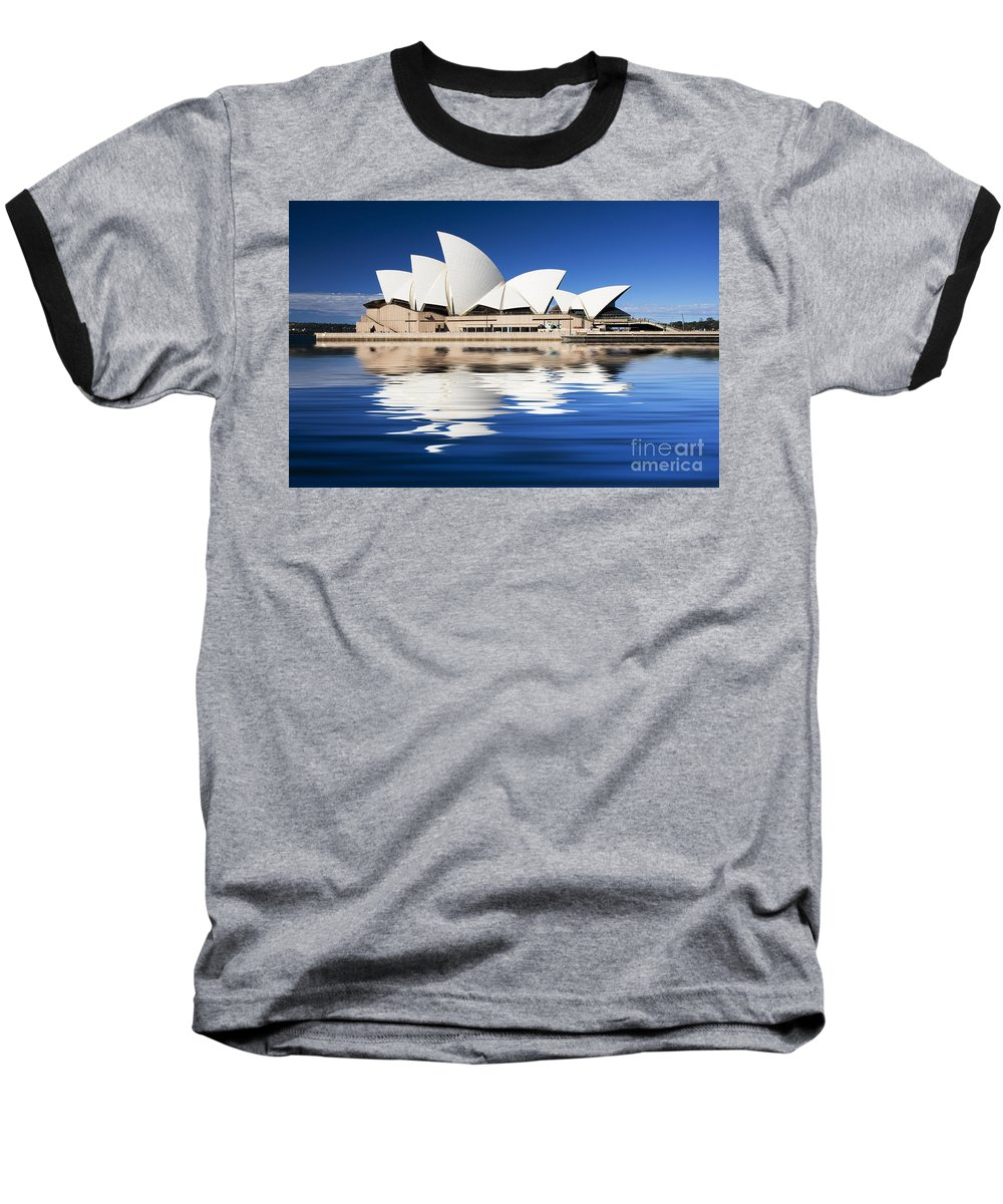 Sydney Opera House Baseball T-Shirt featuring the photograph Sydney Icon by Avalon Fine Art Photography