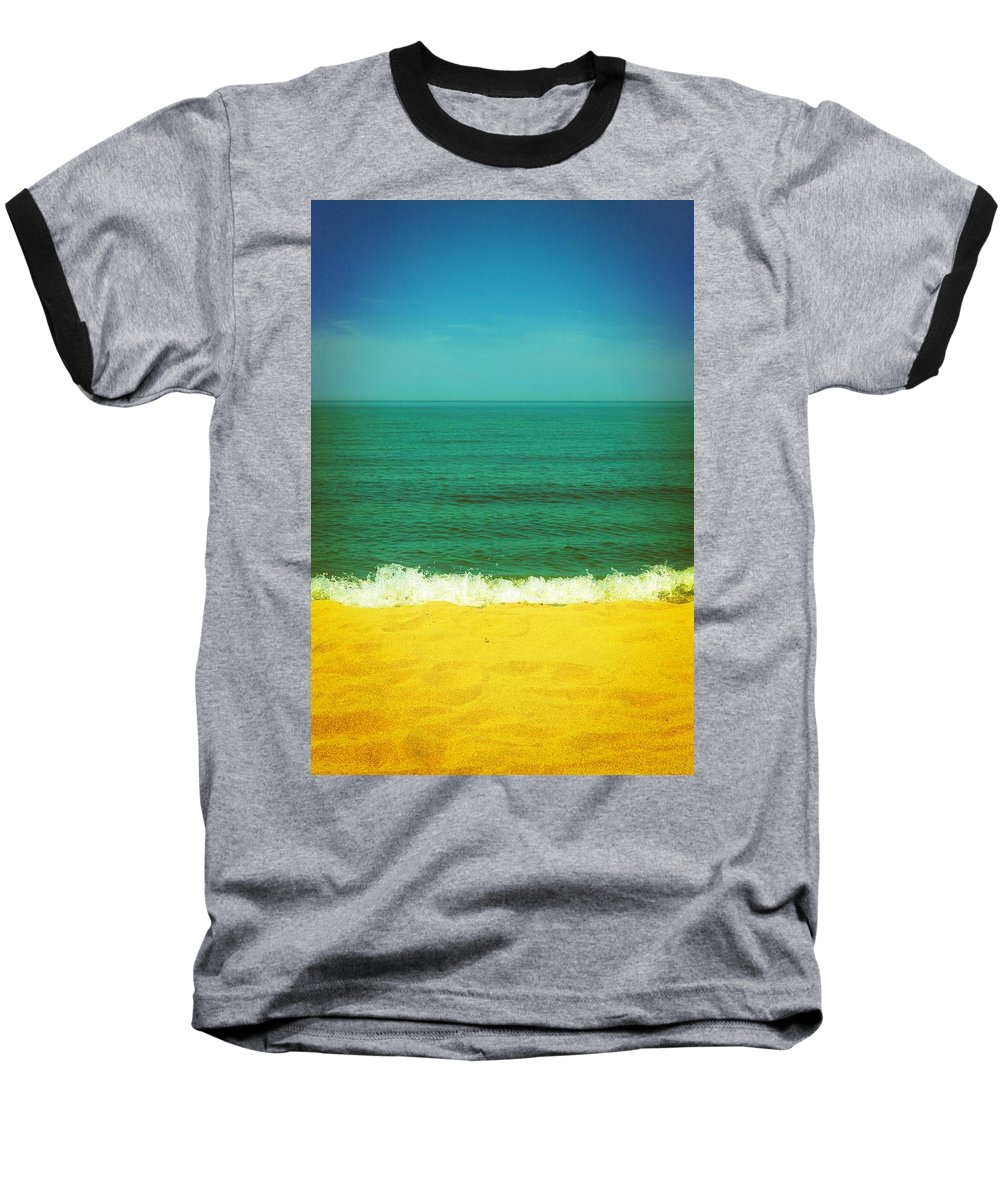 Lake Michigan Baseball T-Shirt featuring the photograph Teal Waters by Michelle Calkins
