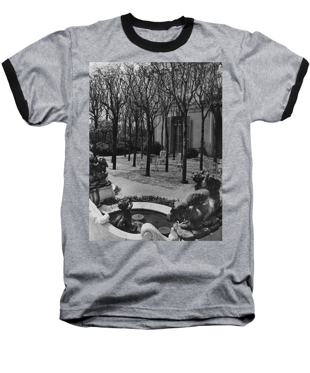 Exterior Baseball T-Shirt featuring the photograph The Garden Of A Home In Meridian Hill by Carola Rust