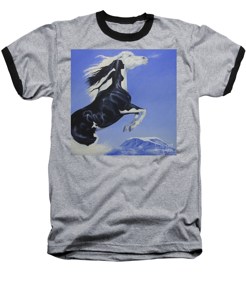 Paint Baseball T-Shirt featuring the painting The Goddess Within by Louise Green