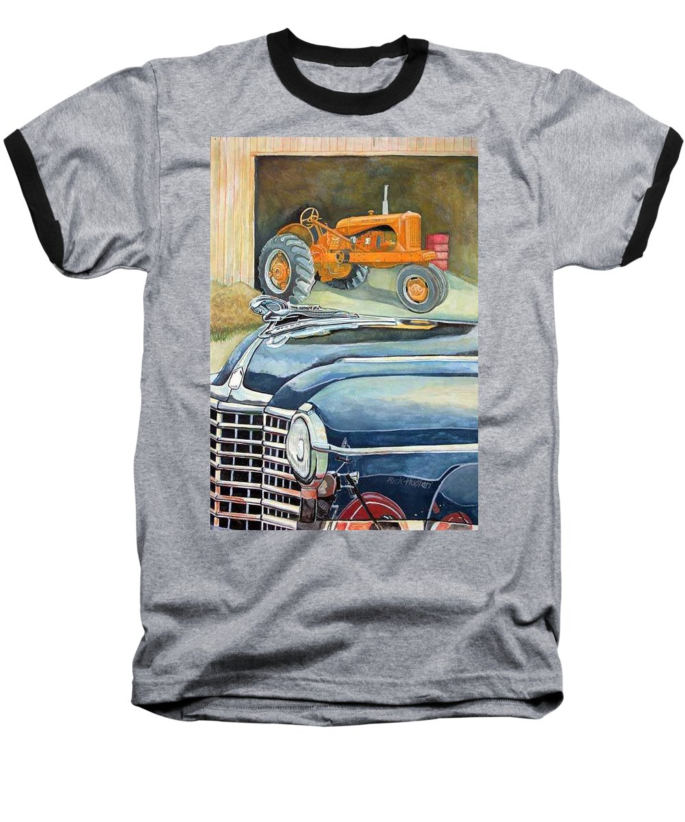 Rick Huotari Baseball T-Shirt featuring the painting The Old Farm by Rick Huotari