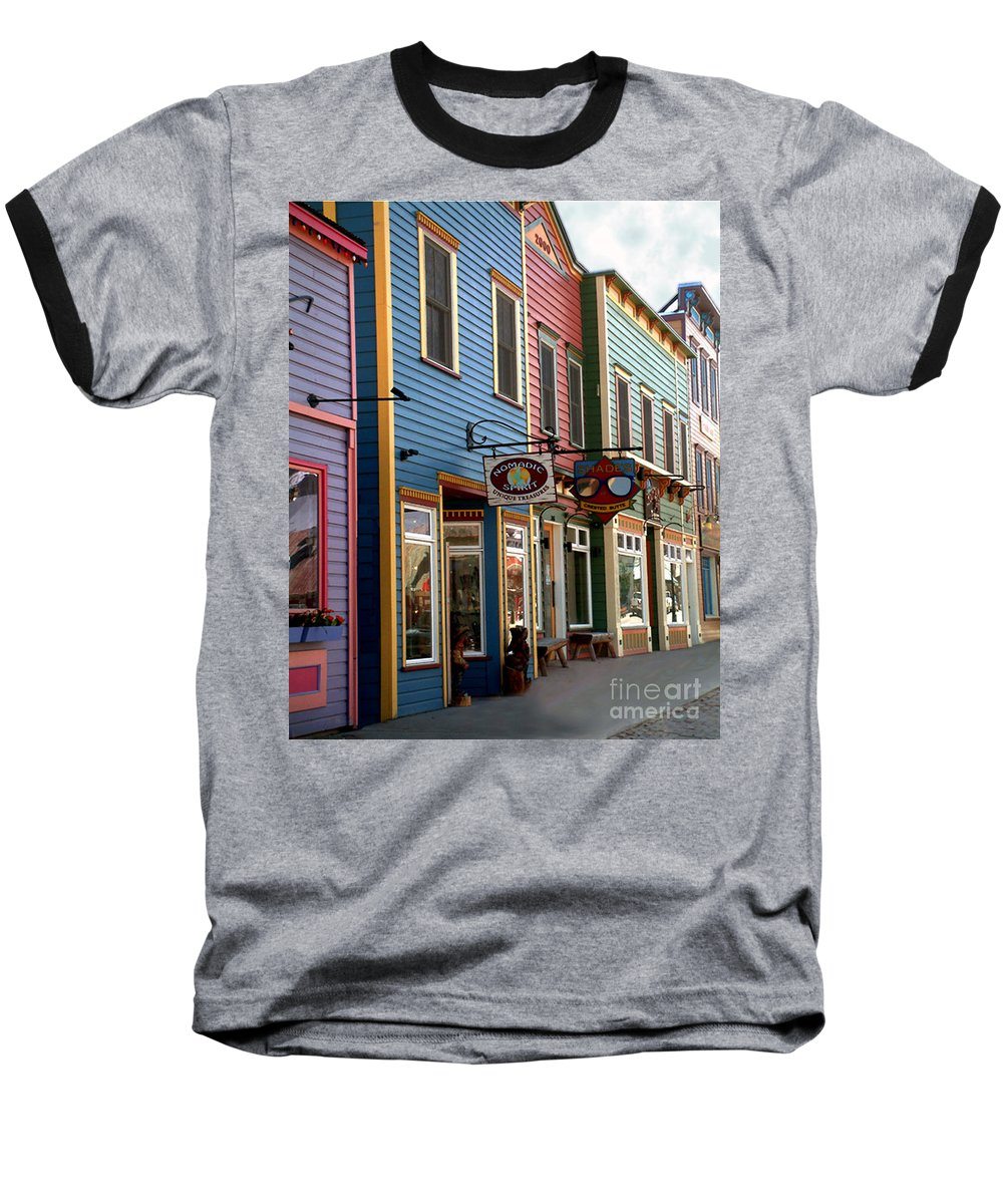 Landscape Baseball T-Shirt featuring the photograph The Shops In Crested Butte by RC DeWinter