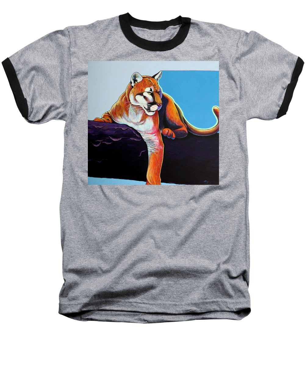 Wildlife Baseball T-Shirt featuring the painting The Toll Collector by Joe Triano
