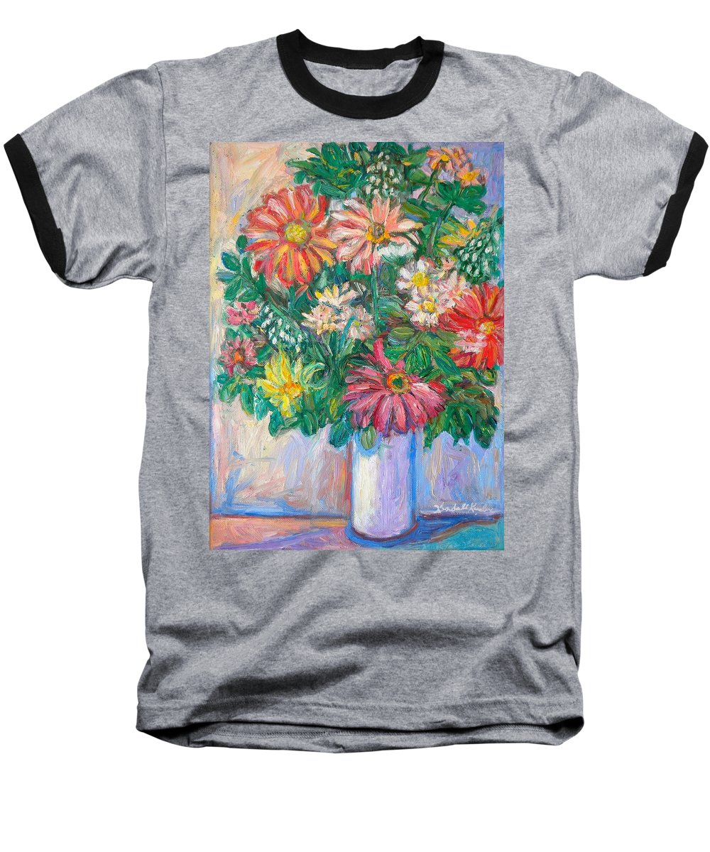 Still Life Baseball T-Shirt featuring the painting The White Vase by Kendall Kessler