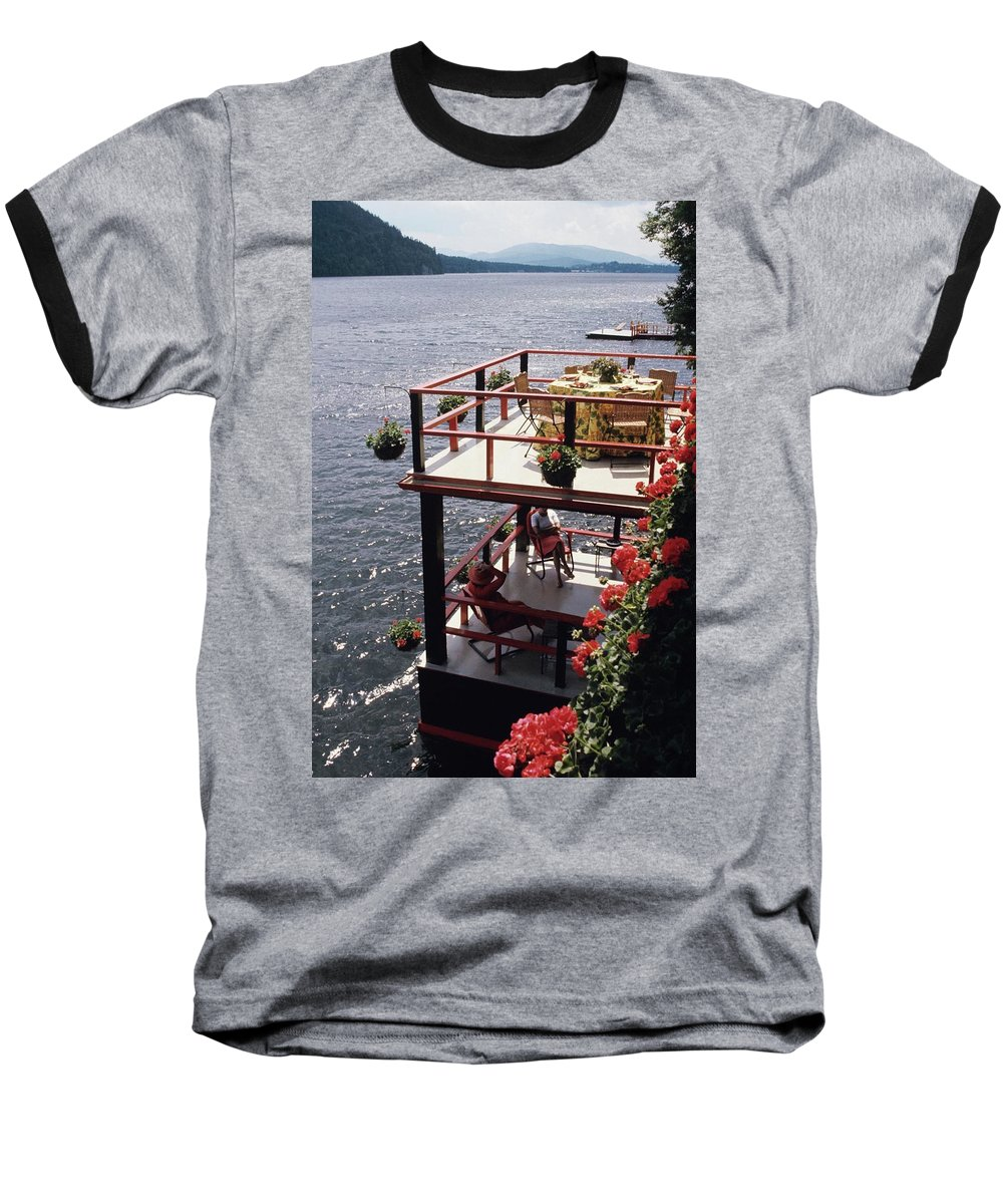 Home Baseball T-Shirt featuring the photograph The Wyker's Deck by Ernst Beadle