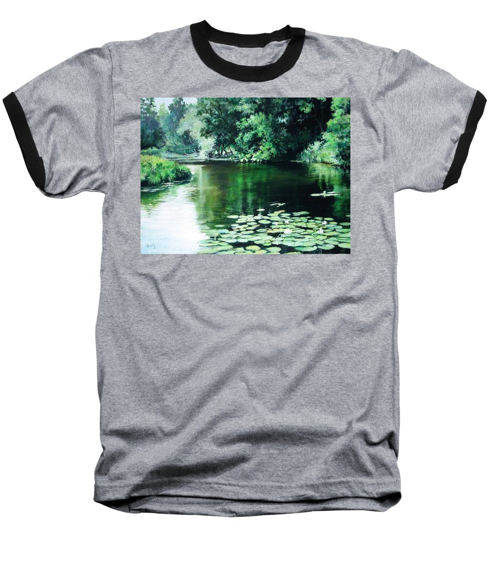 Landscape Baseball T-Shirt featuring the painting Their Spot by William Brody