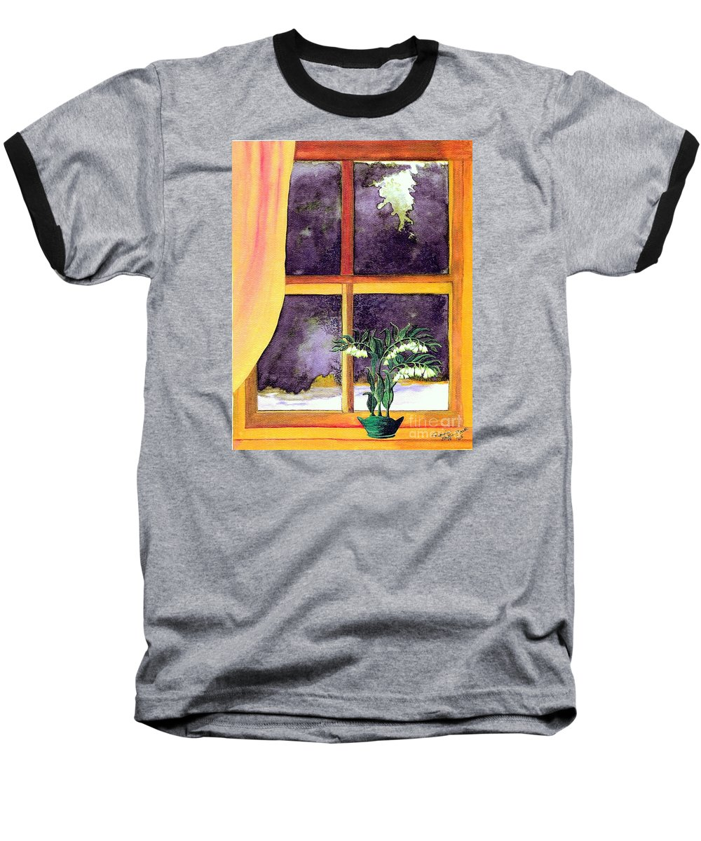 Fine Art Baseball T-Shirt featuring the painting Through The Window by Patricia Griffin Brett