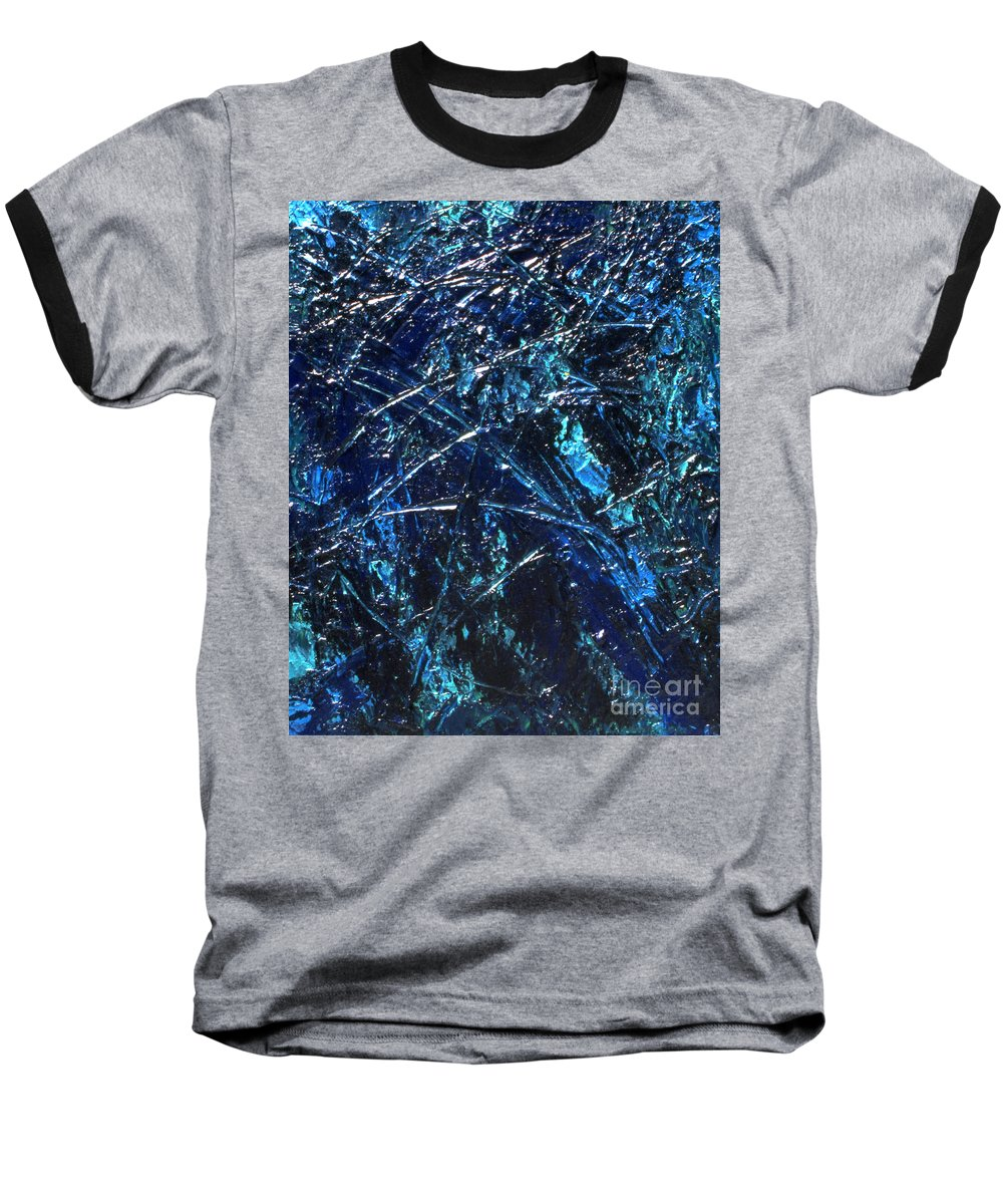 Abstract Baseball T-Shirt featuring the painting Transitions I by Dean Triolo