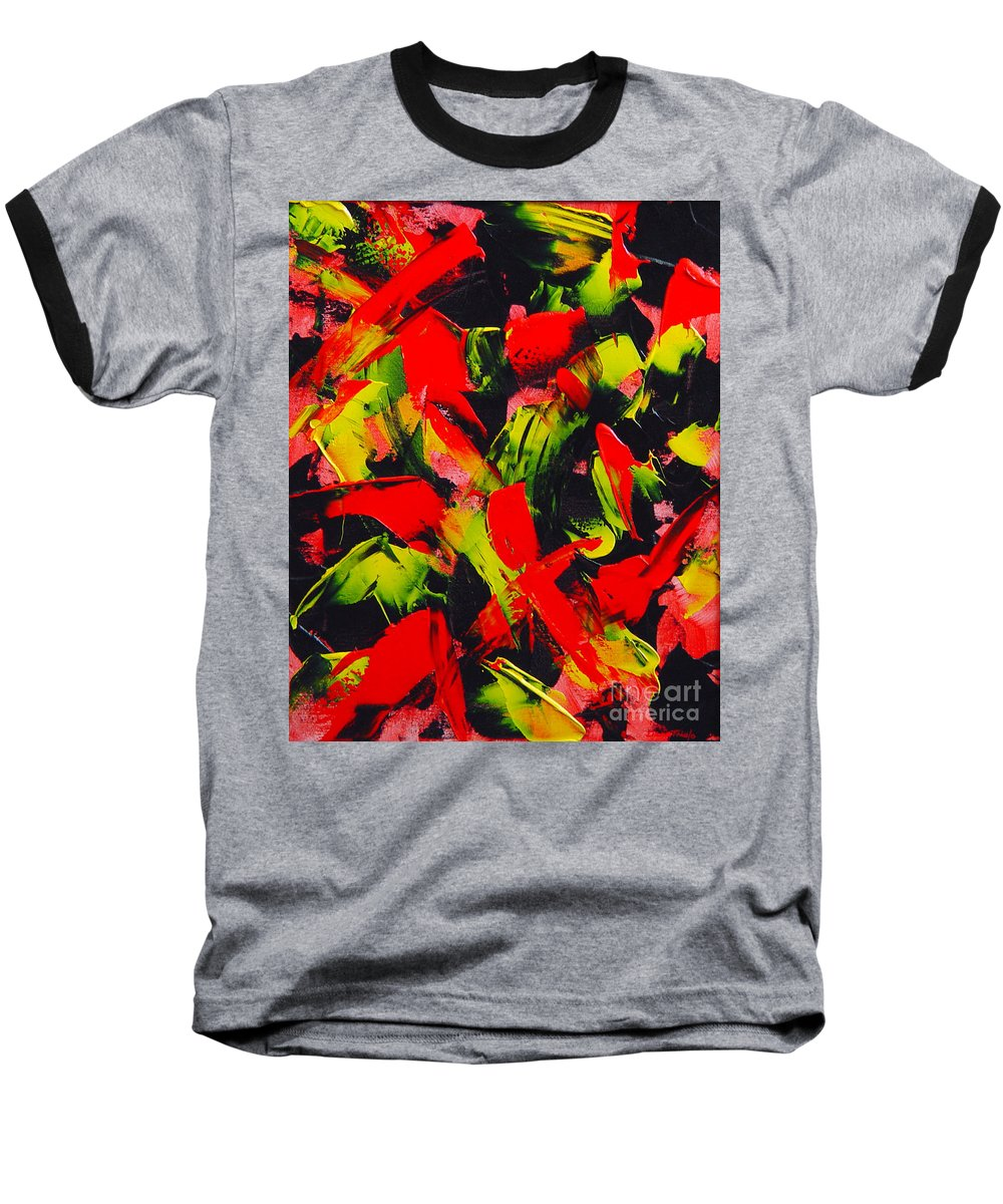 Abstract Baseball T-Shirt featuring the painting Transitions IIi by Dean Triolo
