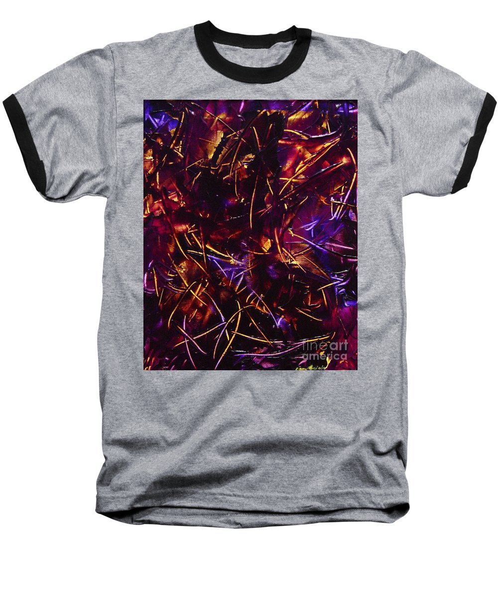 Abstract Baseball T-Shirt featuring the painting Transitions X by Dean Triolo