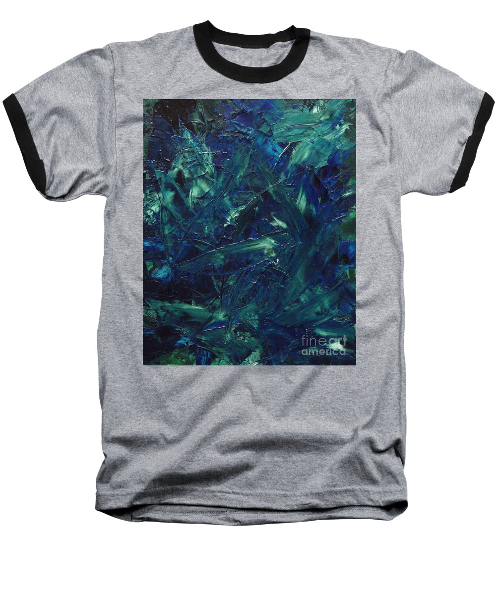 Abstract Baseball T-Shirt featuring the painting Transtions Xi by Dean Triolo
