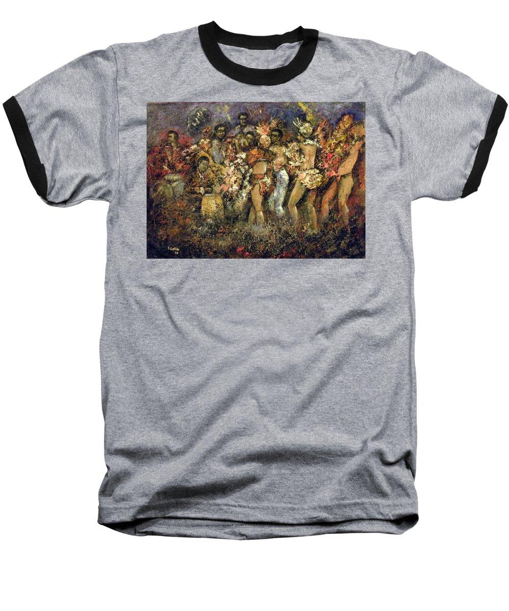 Tropicana Baseball T-Shirt featuring the painting Tropicana Havana by Tomas Castano