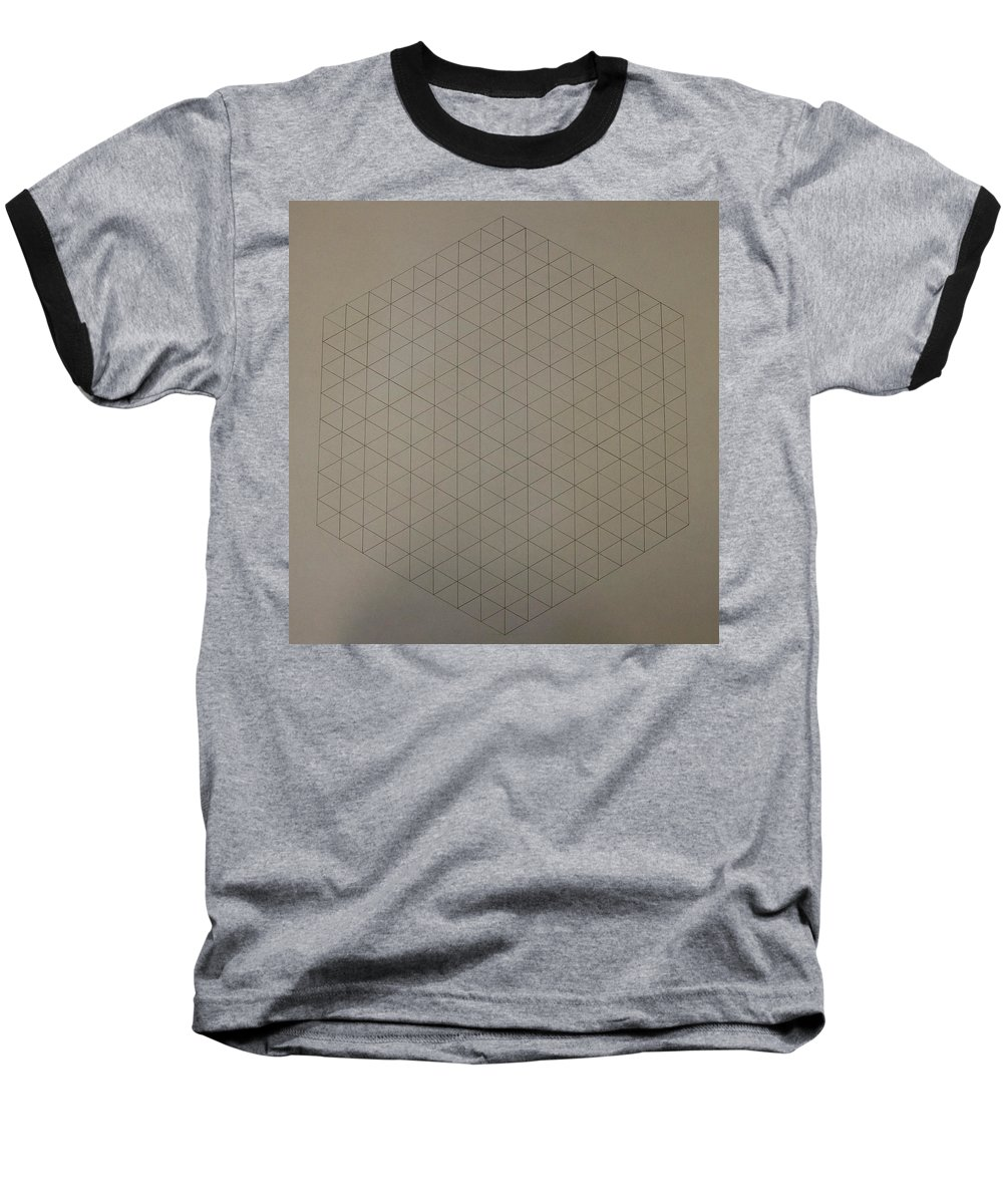 Math Baseball T-Shirt featuring the drawing Two To The Power Of Nine Or Eight Cubed by Jason Padgett