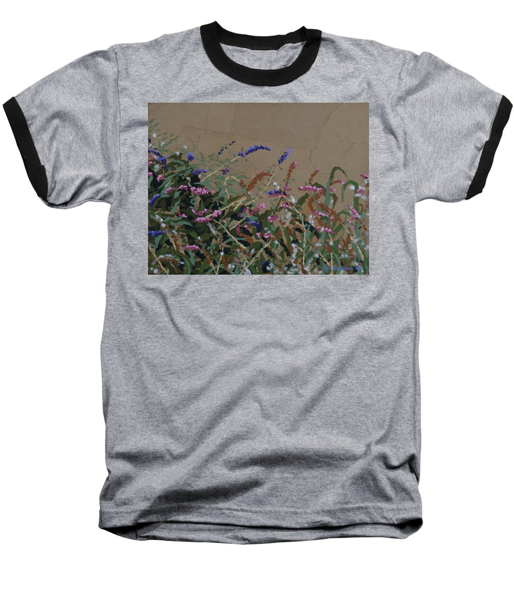 Flowering Butterfly Bush Baseball T-Shirt featuring the painting Tyler by Leah Tomaino
