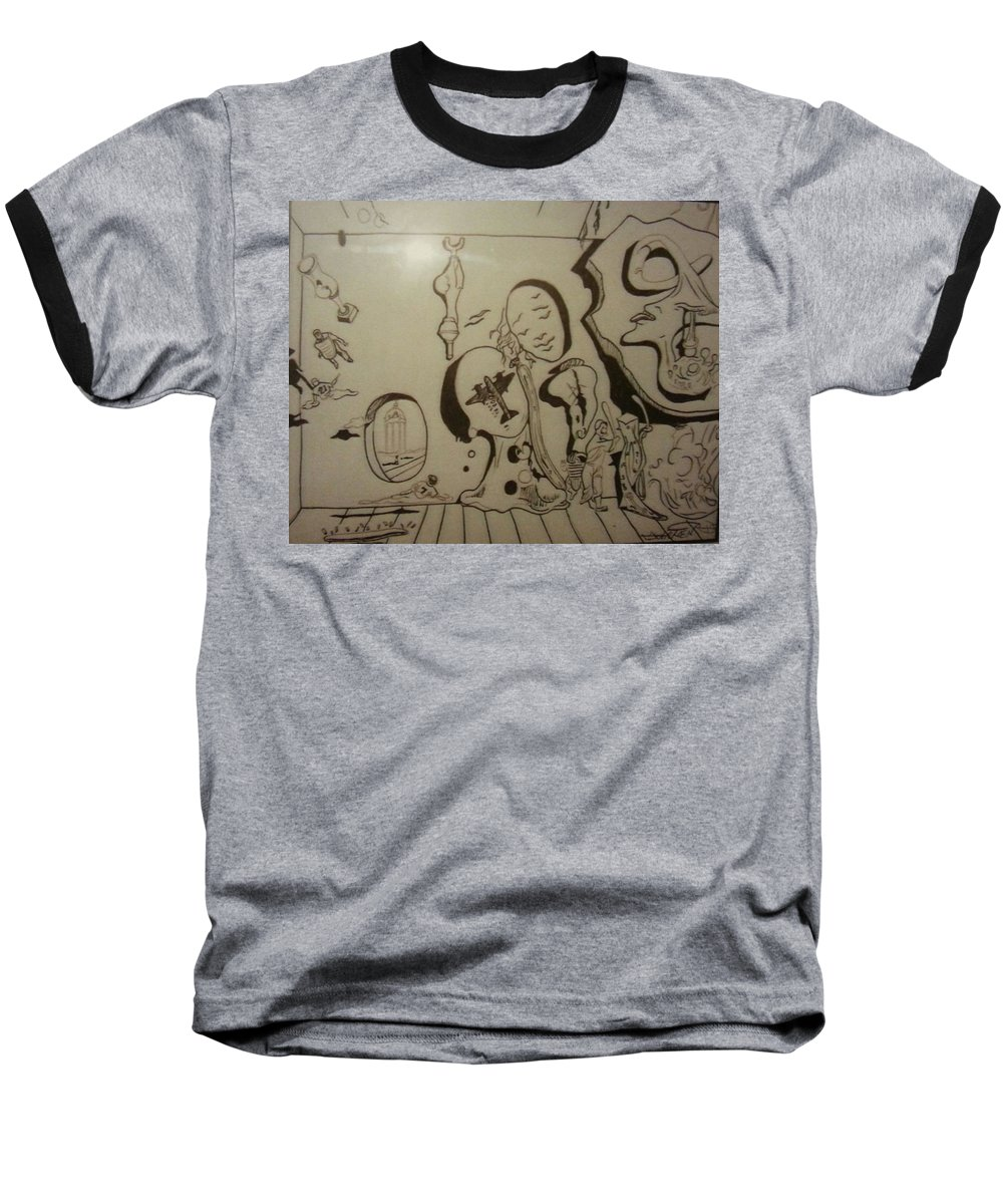 Baseball T-Shirt featuring the drawing Untitled by Jude Darrien