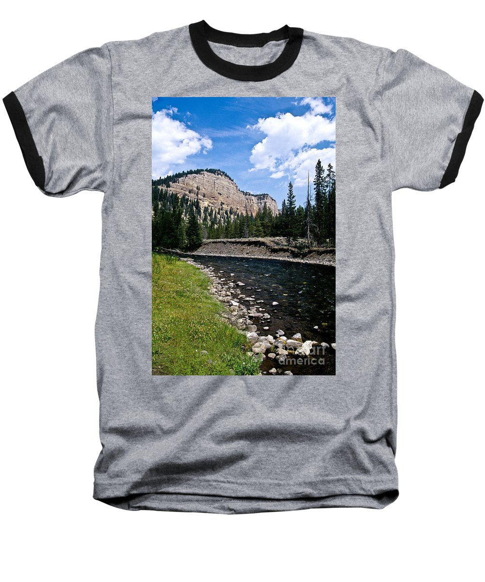 Landscape Baseball T-Shirt featuring the photograph Upriver In Washake Wilderness by Kathy McClure