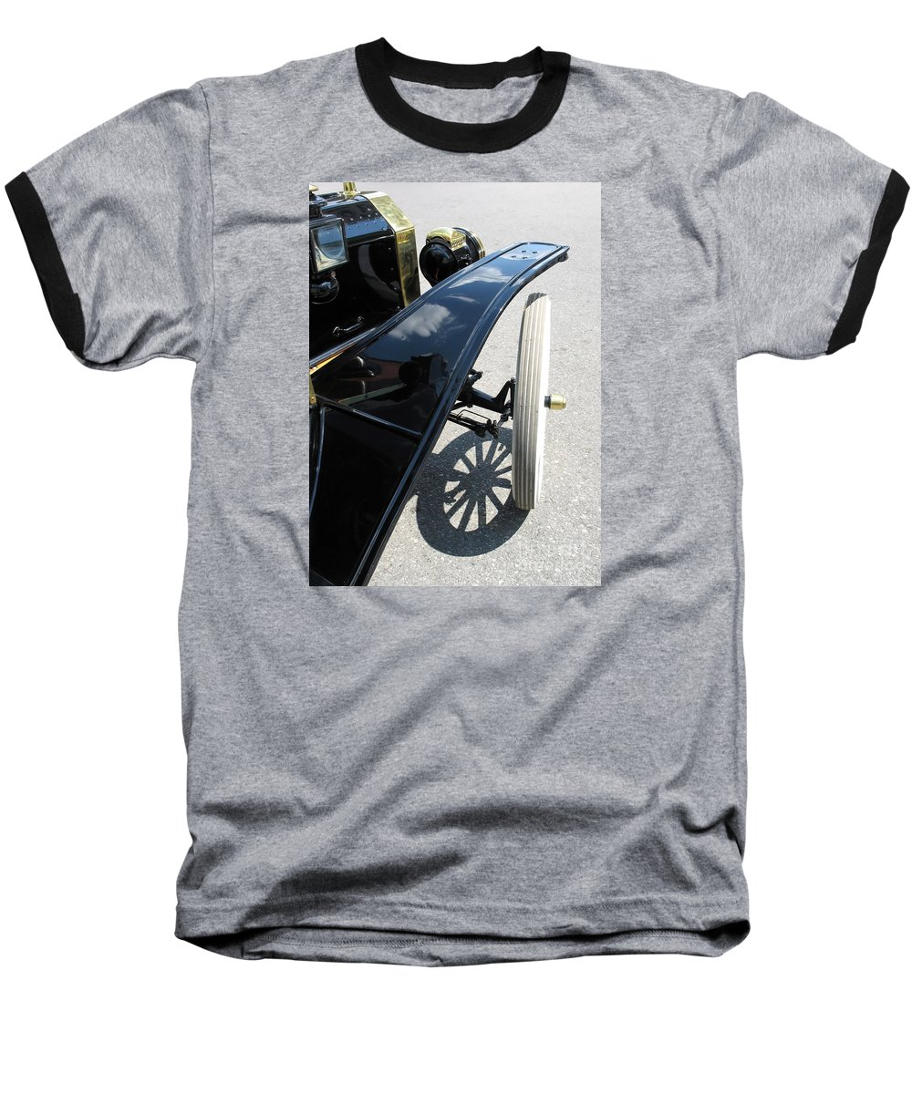 Model T Baseball T-Shirt featuring the photograph Vintage Model T by Ann Horn