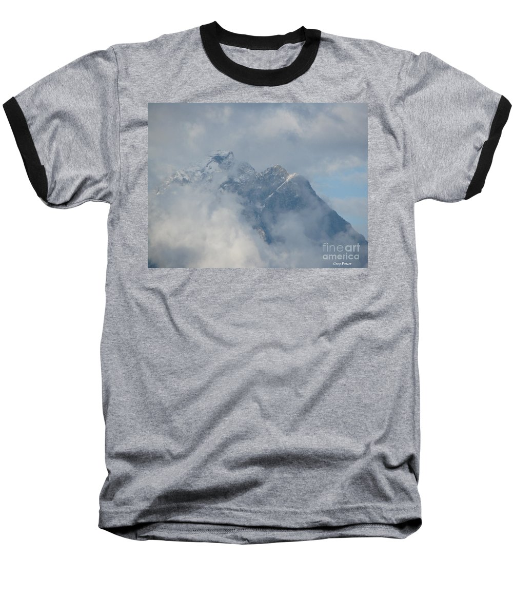 Patzer Baseball T-Shirt featuring the photograph Way Up Here by Greg Patzer
