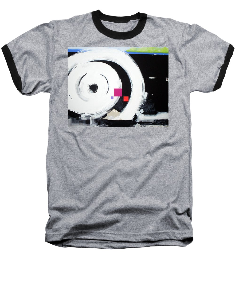 Abstract Baseball T-Shirt featuring the painting Wheel Of Fortune by Jean Pierre Rousselet
