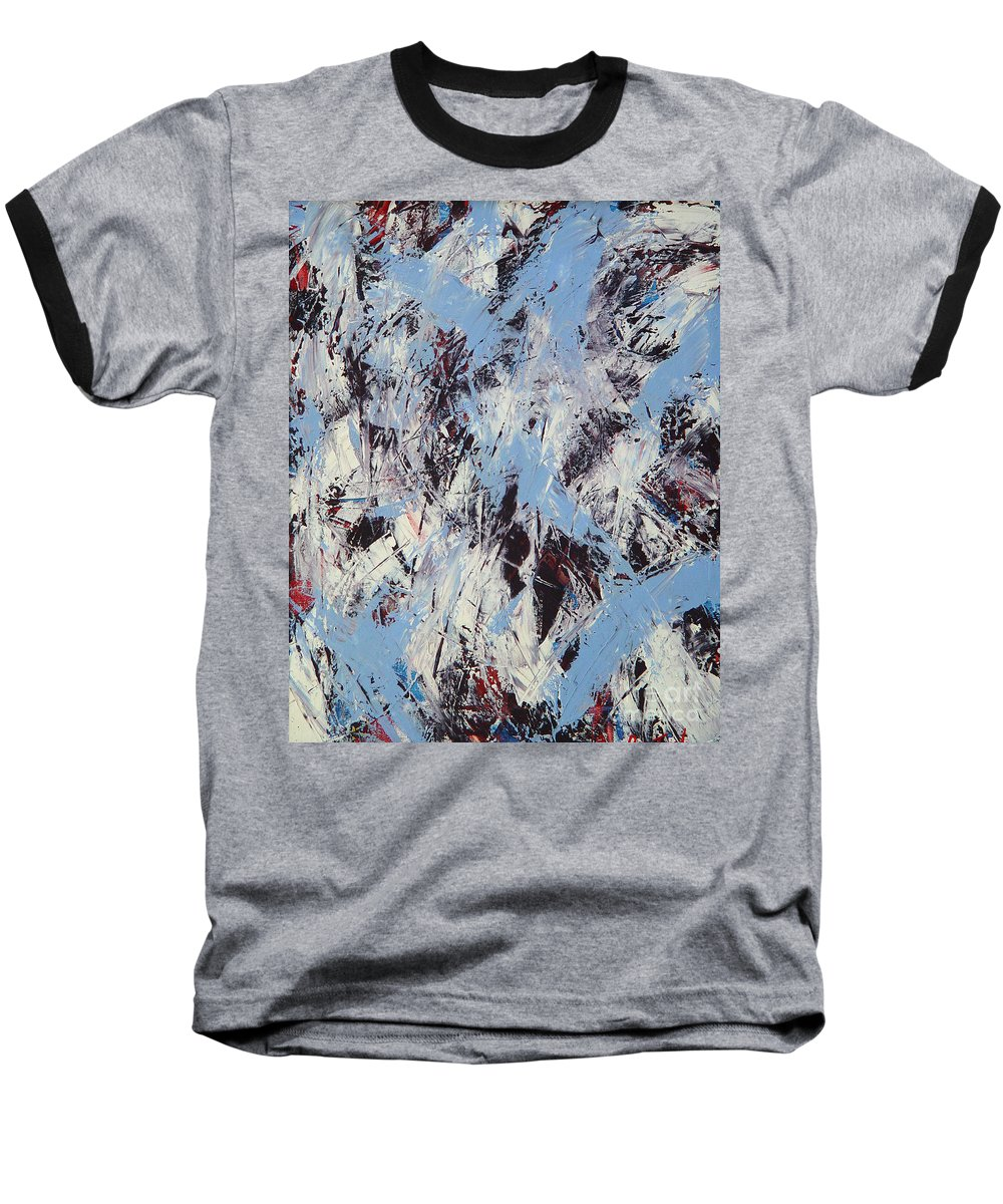 Abstract Baseball T-Shirt featuring the painting Winter by Dean Triolo