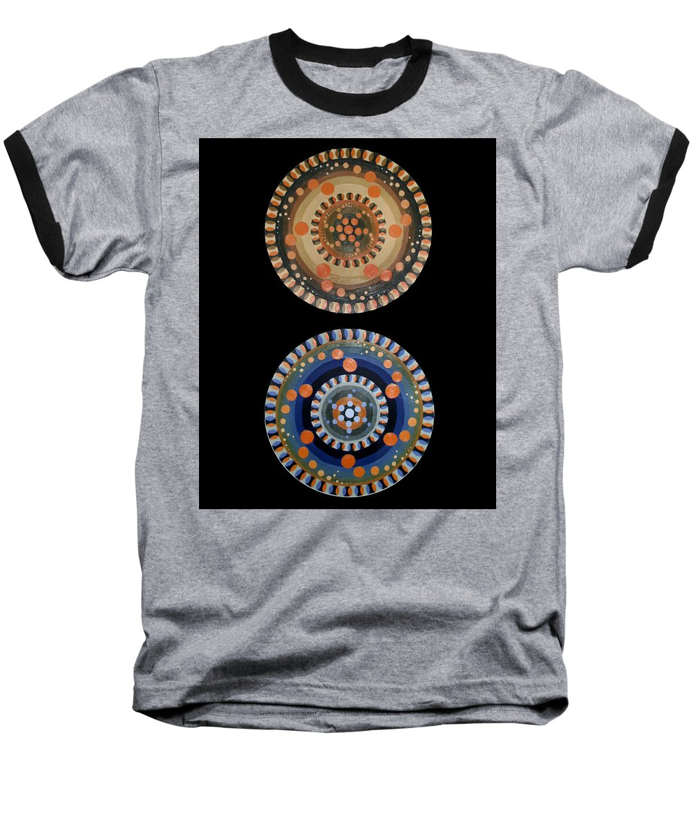 Baseball T-Shirt featuring the painting Circles by Kate Fortin