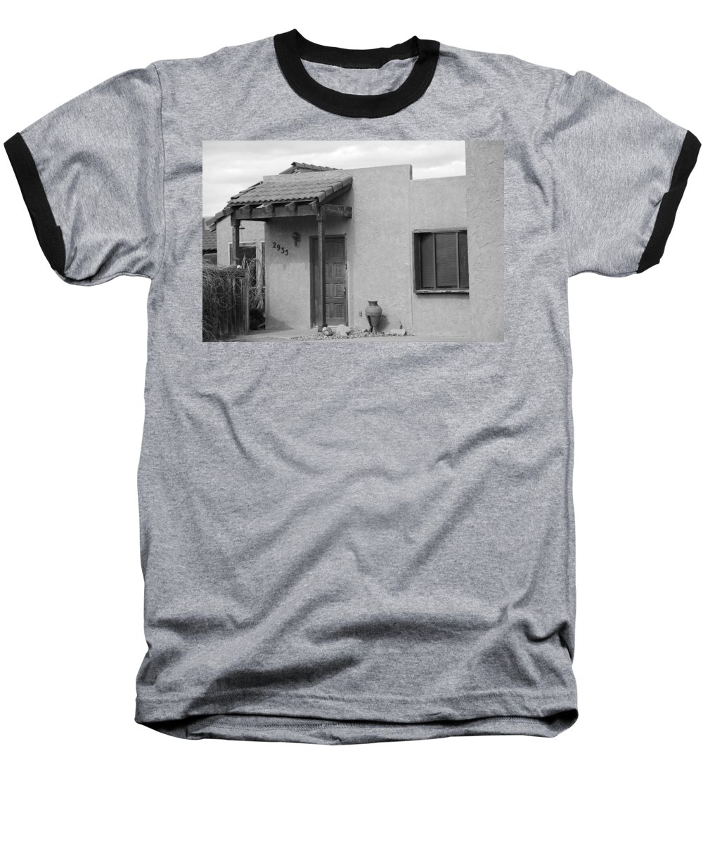 Architecture Baseball T-Shirt featuring the photograph Adobe House by Rob Hans