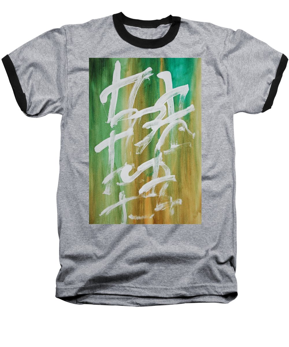 Chinese Baseball T-Shirt featuring the painting Chinese Numbers by Lauren Luna