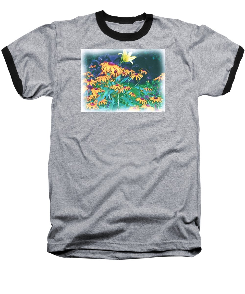 Mixed Media Baseball T-Shirt featuring the painting A Lily In The Field by Patricia Griffin Brett