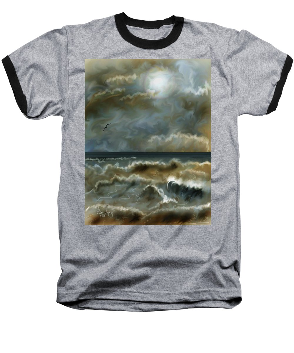 Seascape Baseball T-Shirt featuring the painting After The Squall by Anne Norskog