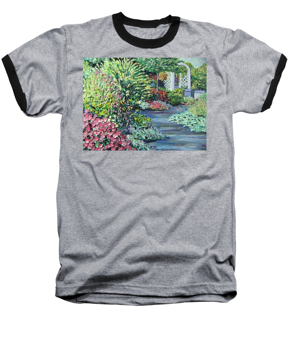 Garden Baseball T-Shirt featuring the painting Amelia Park Pathway by Richard Nowak