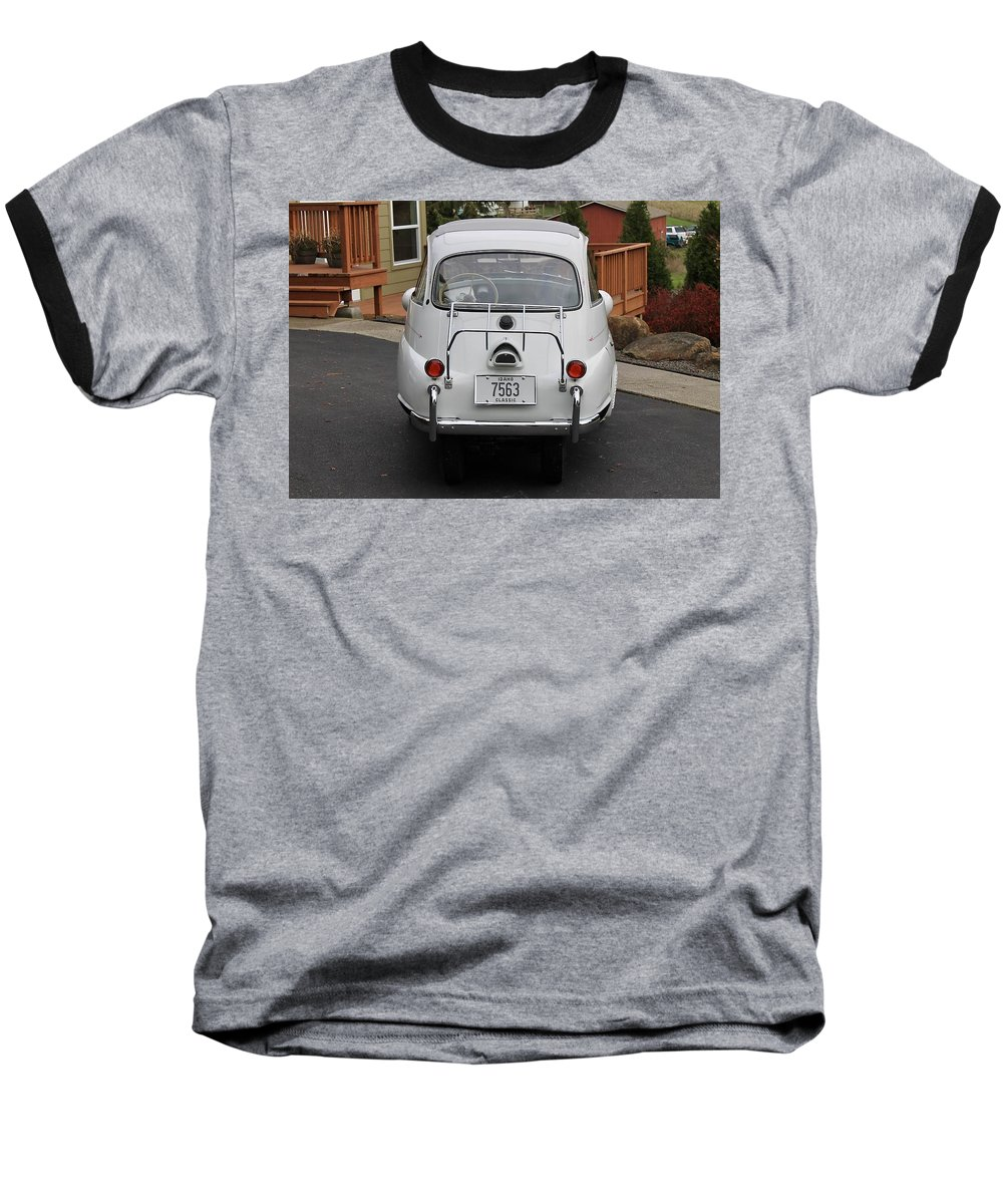 Bmw Isetta 300 Baseball T-Shirt featuring the photograph Bmw Isetta 300 by Jackie Russo