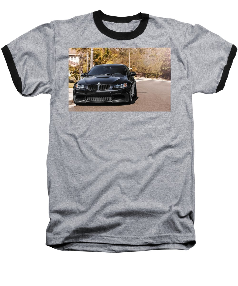 Bmw M3 Baseball T-Shirt featuring the digital art Bmw M3 by Super Lovely