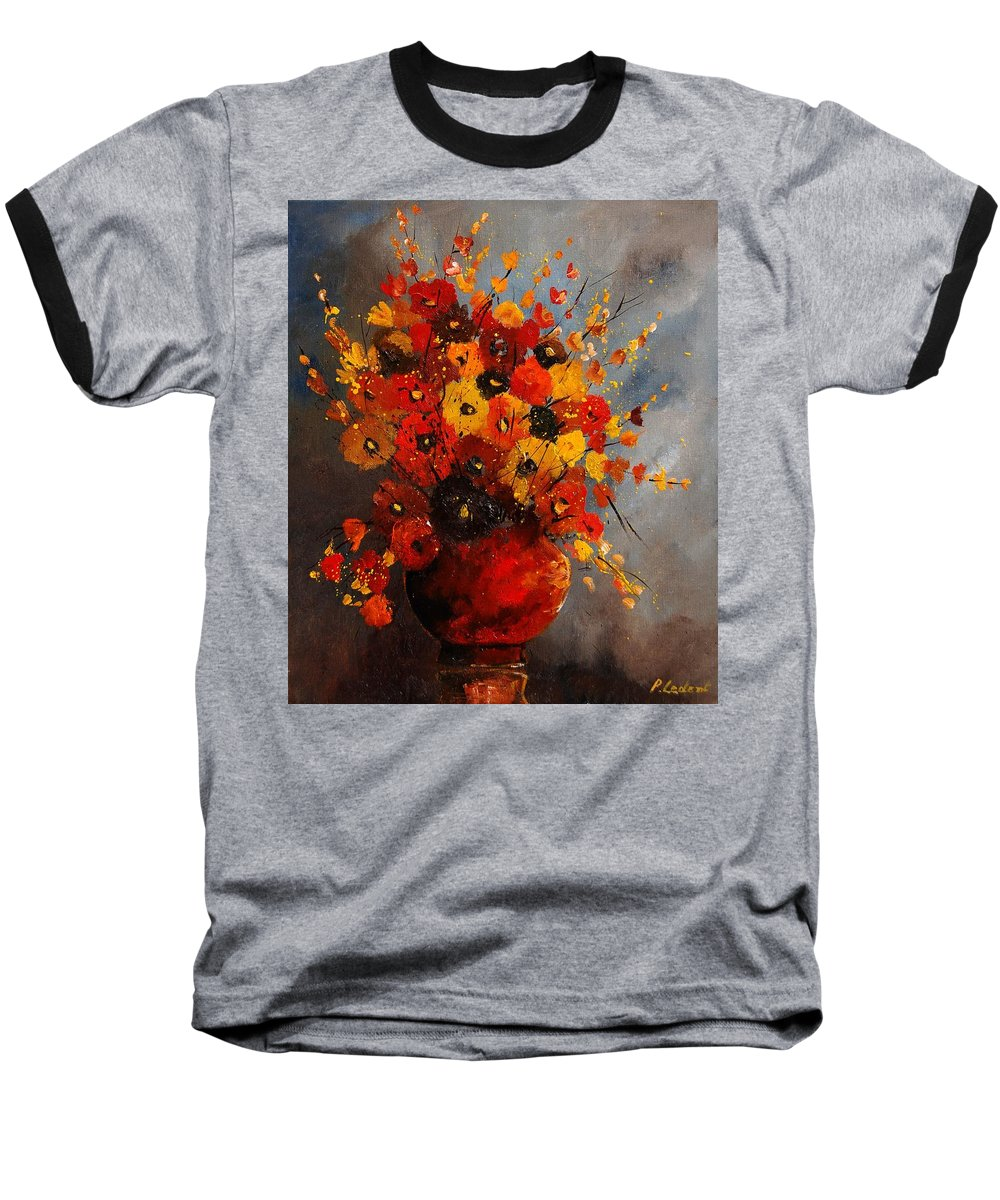 Flowers Baseball T-Shirt featuring the painting Bunch 0708 by Pol Ledent