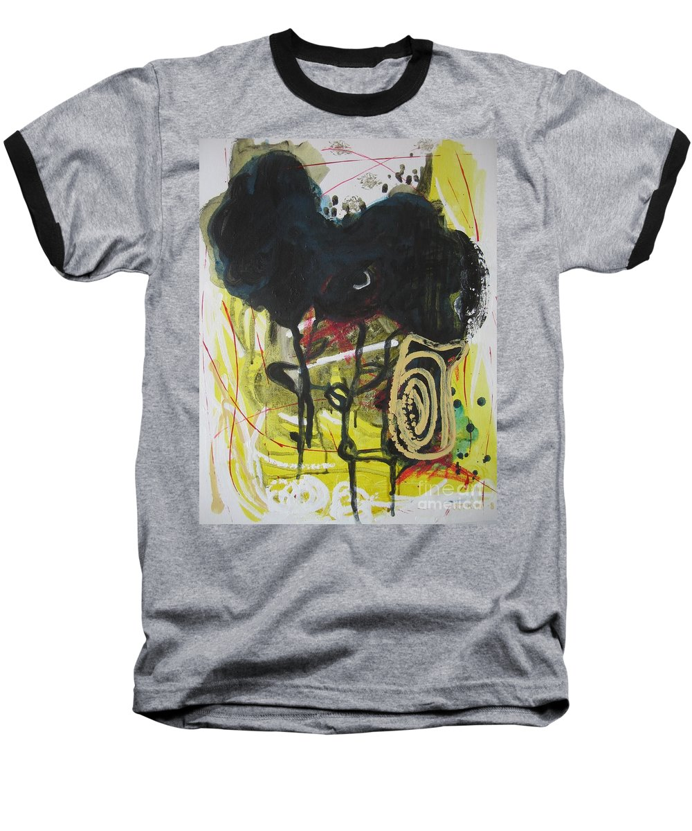 Abstract Paintings Baseball T-Shirt featuring the painting Crescent2 by Seon-Jeong Kim