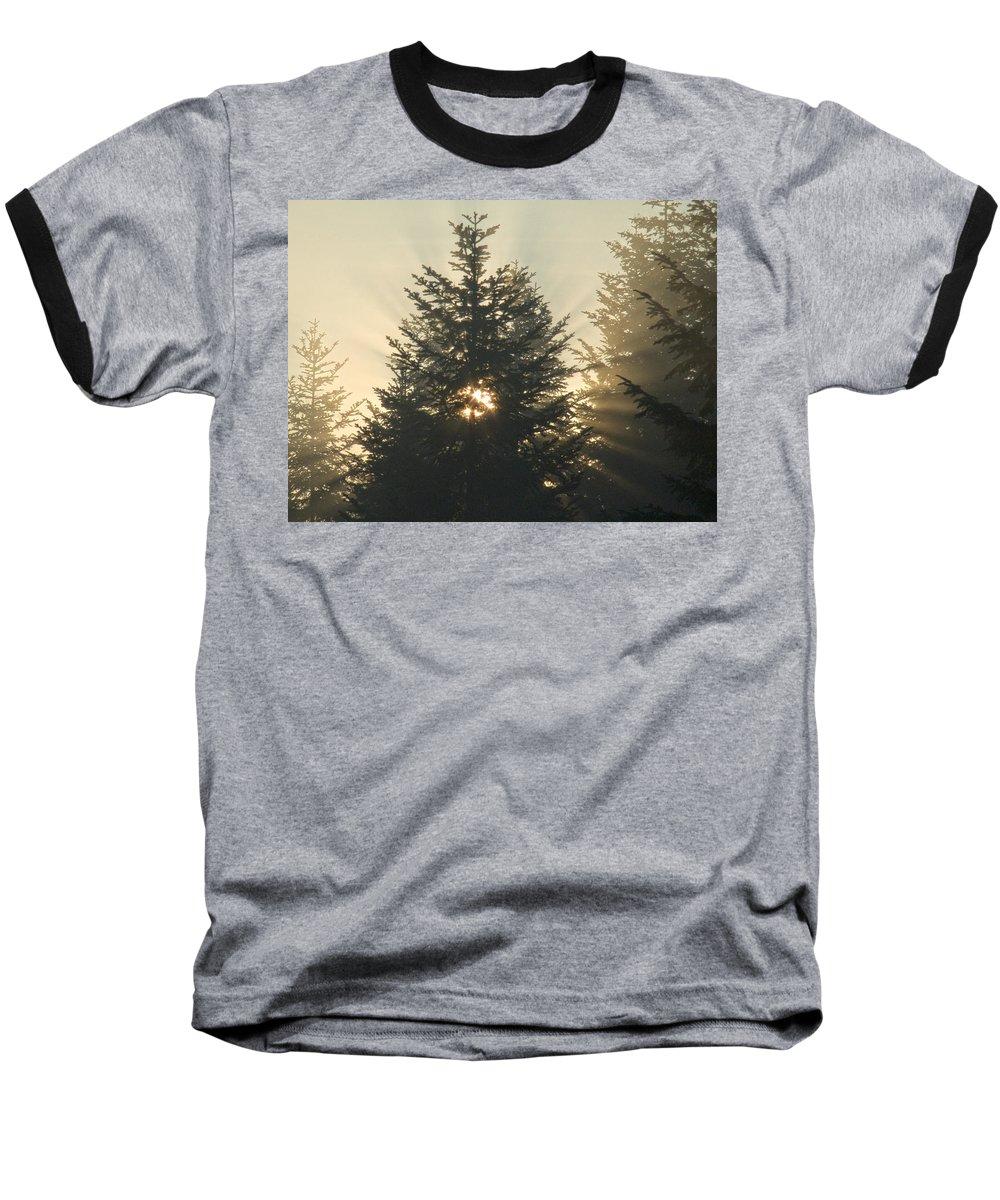 Nature Baseball T-Shirt featuring the photograph Dawn by Daniel Csoka