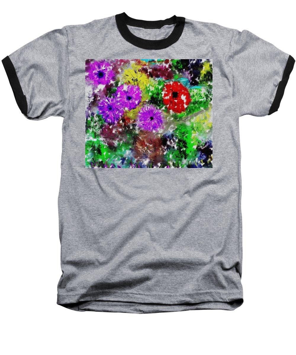 Landscape Baseball T-Shirt featuring the digital art Dream Garden II by David Lane