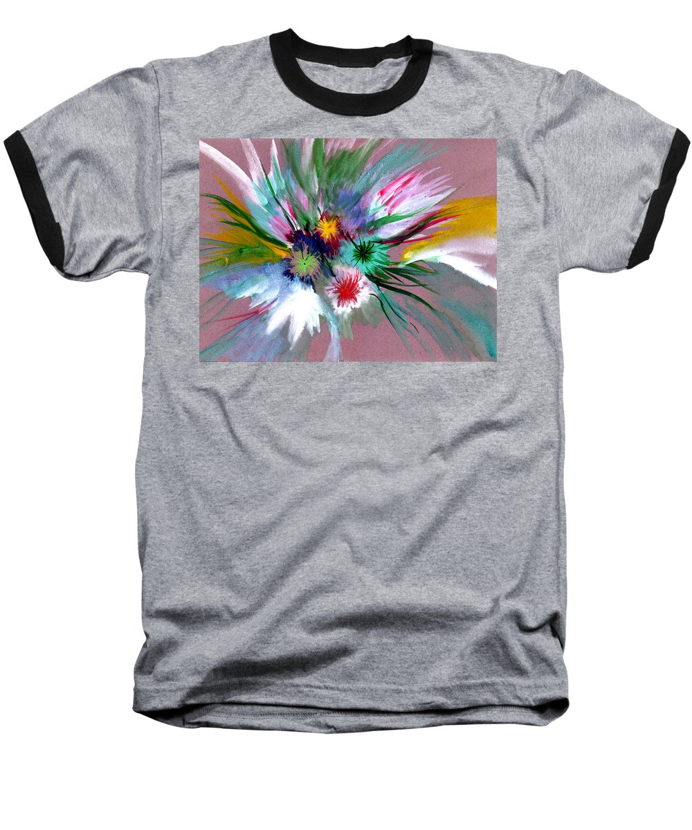 Flowers Baseball T-Shirt featuring the painting Flowers by Anil Nene