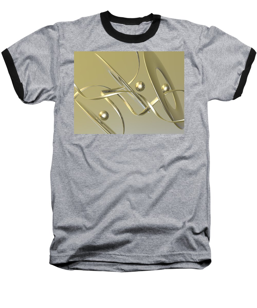 Scott Piers Baseball T-Shirt featuring the painting Gold by Scott Piers