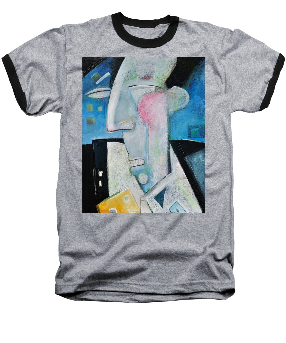 Jazz Baseball T-Shirt featuring the painting Jazz Face by Tim Nyberg